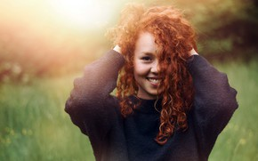 Картинка девушка, улыбка, портрет
