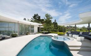 Обои вилла, люкс, Калифорния, бассейн, Beverly Hills
