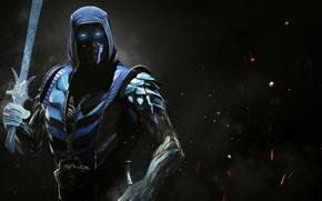 Картинка fire, flame, sword, ice, game, Mortal Kombat, crossover, ken, blade, ninja, Sub Zero, Sub-Zero, martial …