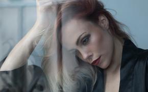 Картинка лицо, фон, модель, волосы, помада, Miri