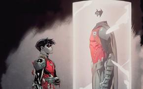 Картинка Кровь, Костюм, Герой, Маска, Комикс, Плащ, Супергерой, Hero, Robin, DC Comics, Джейсон Тодд, Cape, Mask, …