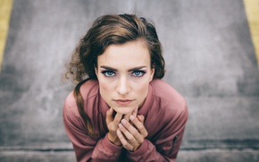 Картинка взгляд, девушка, портрет