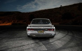 Обои Авто, Машина, Ниссан, Nissan, Фары, Автомобиль, 2000, Skyline, Nissan Skyline, 2000GT, Японец, Сзади, 2000GT-R, 2000 ...