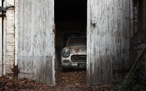 Картинка машина, гараж, дверь