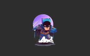 Обои moon, Batman, man, bat, hero, mask, DC Comics, Bruce Wayne, uniform, yuusha, seifuku, Gotham, Gotham ...