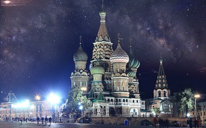 Обои Москва, Кремль, Собор Василия Блаженного, Russia, Moscow, Kremlin, Красная Площадь