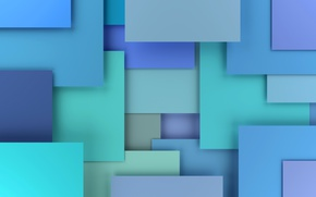 Обои 3D rendering, background, colorful, blue, geometry, design, abstract, geometric shapes