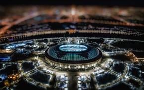 Картинка Ночь, Спорт, Футбол, Москва, Россия, Лужники, Главный Стадион, Стадион «Лужники»