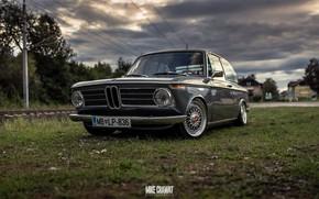 Обои Mike Crawat Photography, BMW, Ретро, MB-LP-836, BMW 2002, Передок, Старая, 2002, MBLP836, Авто, BMW Neue ...