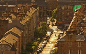 Картинка крыша, дома, Шотландия, Эдинбург