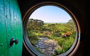 Обои Дверь, Нора, Пейзаж, Хоббит