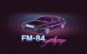 Обои Неон, DeLorean, FM-84, Synth, Музыка, 80's, Синти-поп, Синти, FM 84, FM84, Synthpop
