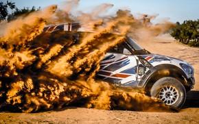 Картинка Песок, Mini, Пыль, Винил, Спорт, Пустыня, Скорость, Флаг, Британия, Жара, Rally, Ралли, Raid, MINI Cooper, …