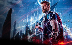 Картинка молнии, Ragnarok, Lightning, Warrior, Gladiator, Marvel, Thor, God, Chris Hemsworth, Walt Disney Pictures, Movie, Armor, …
