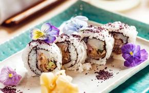 Картинка еда, рыба, кухня, суши, роллы, морепродукты, японская