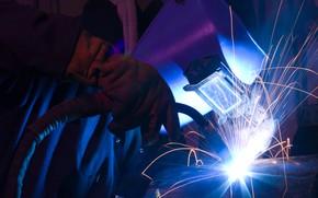 Картинка sparks, welder, worker