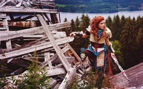 Картинка героиня, Cosplay, Horizon Zero Dawn, Элой, Katrix