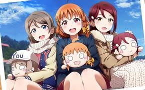 Картинка девочки, куклы, аниме, арт, Love live!