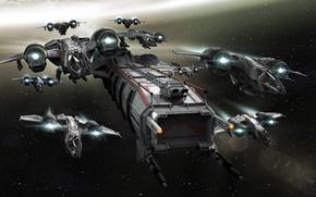Картинка Star Citizen, Space ship, Drake Buccaneer, Drake Caterpillar