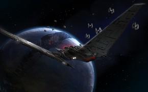 Обои Upsilon Shuttle, летательные аппараты, Звёздные Войны, Star Wars, планета