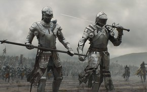 Обои sword, armor, weapon, war, man, army, fight, ken, blade, horse, warrior, knight, spear, combat, honor