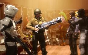 Картинка игры, оружие, солдат, star wars, resident evil, hunk, Leon S. Kennedy, link, legend of zelda
