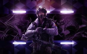 Обои Оружие, Ubisoft, Спецназ, Экипировка, Ubisoft Entertainment, Каска, Ubisoft Montréal, Бронежилет, Tom Clancy's Rainbow Six: Siege, ...