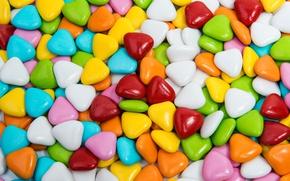 Картинка colorful, конфеты, сладости, леденцы, hearts, sweet, candy