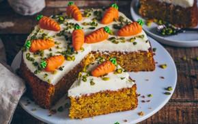 Картинка пирог, декор, морковный