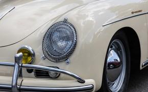 Картинка дизайн, фара, Porsche, передок
