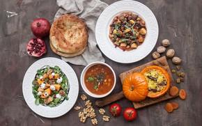 Картинка еда, суп, салат, Ассорти, плов