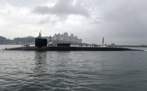 Картинка SSGN 727, Ohio-class guided-missile submarine, USS Michigan