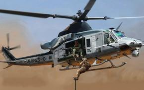 Картинка Bell, Venom, Bell Helicopter Textron, многоцелевой вертолёт, UH-1Y
