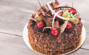 Картинка шоколад, торт, украшение, крем