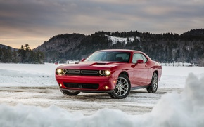 Обои зима, челленджер, додж, Challenger, Dodge