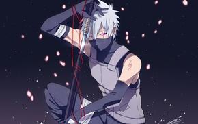 Картинка арт, Naruto, Hatake Kakashi, анбу, Хатаке
