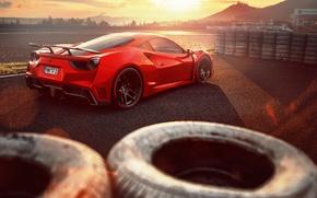 Картинка Ferrari, суперкар, феррари, GTB, Novitec Rosso, 488