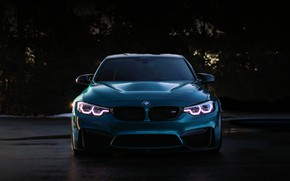 Картинка BMW, Blue, Predator, F80, Sight, LED