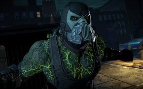Картинка маска, вены, game, mask, DC Comics, Bane, бейн, uniform, Batman - The Telltale Series