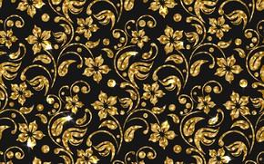 Обои фон, golden, текстура, цветы