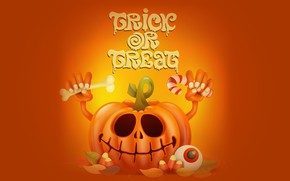 Картинка праздник, надпись, тыква, хэллоуин
