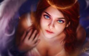 Картинка девушка, ангел, фэнтези, NiNen Cat