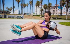 Обои ball, sun, fitness, workout