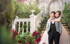 Картинка любовь, пара, Праздник, невеста, свадьба, жених