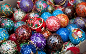 Картинка шарики, украшения, праздник, шары, текстура, Рождество