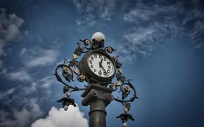 Картинка небо, часы, Испания, Spain, Андалусия, Andalusia, Jerez de la Frontera, Херес-де-ла-Фронтера, Pedro Domecq clock