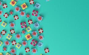 Картинка ленты, праздник, подарки, коробки, упаковка
