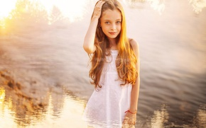 Картинка улыбка, рисунок, девочка, рыжеволосая, хна