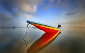 Картинка вода, лодка, нос