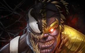 Обои art, фантастика, thanos, avengers, infinity war, venom